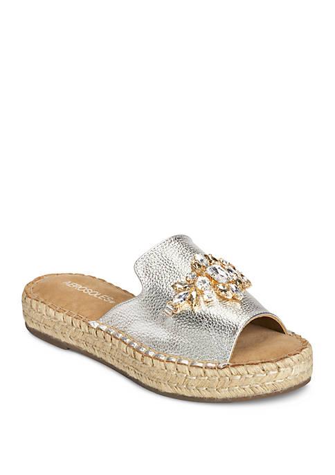 AEROSOLES® Press Work Embellished Slide Sandal