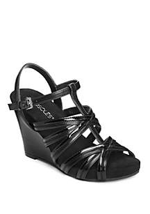 31b5f701c575 AEROSOLES® Saturday Criss Cross Strap Ballet Flats · AEROSOLES® Right Plush  Strappy Cork Wedge Sandal