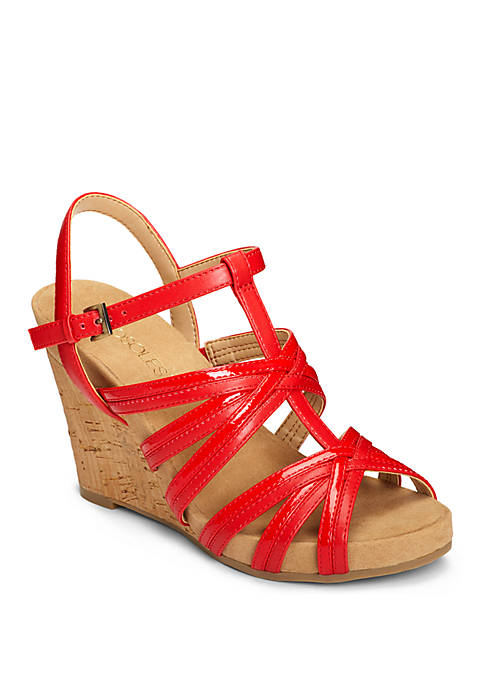 AEROSOLES® Right Plush Strappy Cork Wedge Sandal