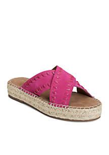 Rose Gold Chunky Slip-On Sandal