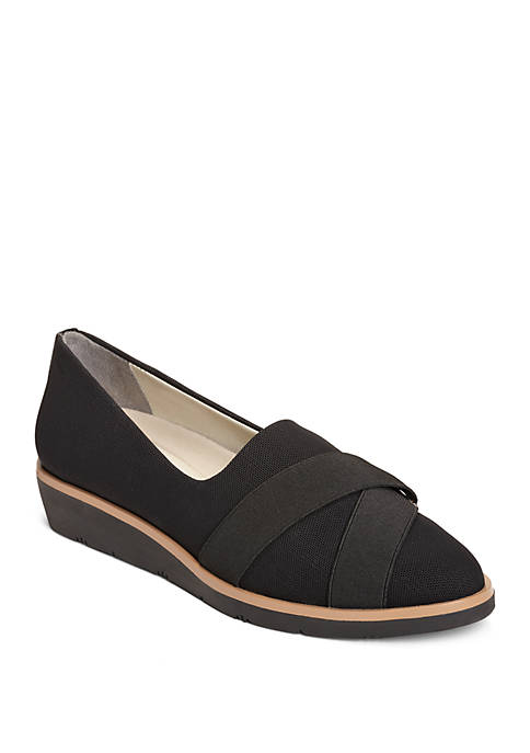 Sideview Strapped Slip On Wedges