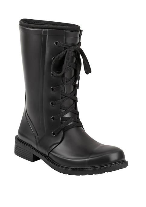 Vernon Lace Up Rain Boots