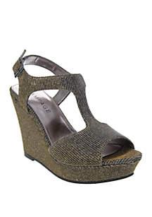 Rampage Candelas T Strap Wedge Sandals
