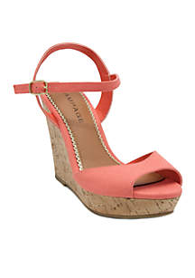 Rampage Crissy Casual Cork Wedge