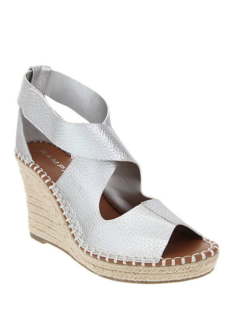 Holmes Closed Back Open Toe Espadrille Wedges