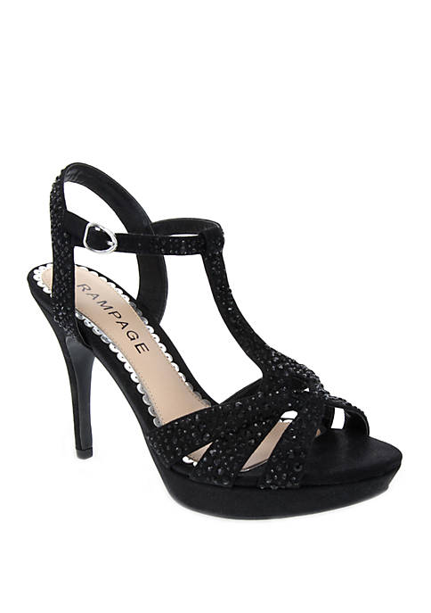 Navara T Bar Glitter Dress Sandal