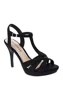 Rampage Navara T Bar Glitter Dress Sandal