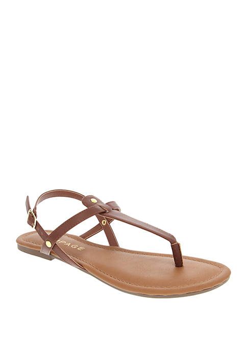 Trapeze Thong Sandals