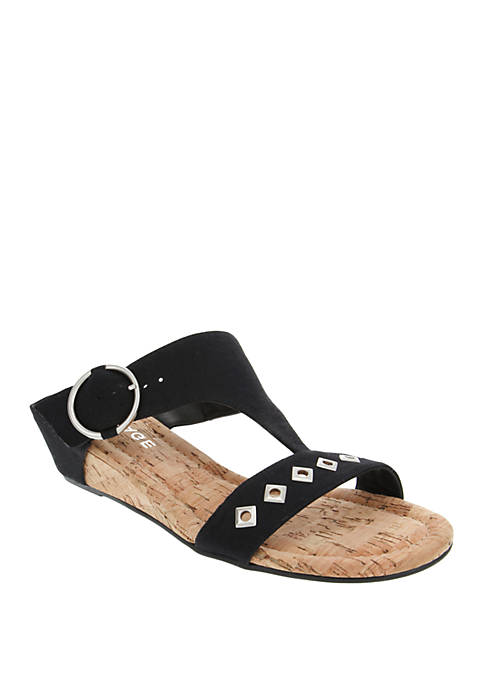 Simara T Bar Wedge Sandal
