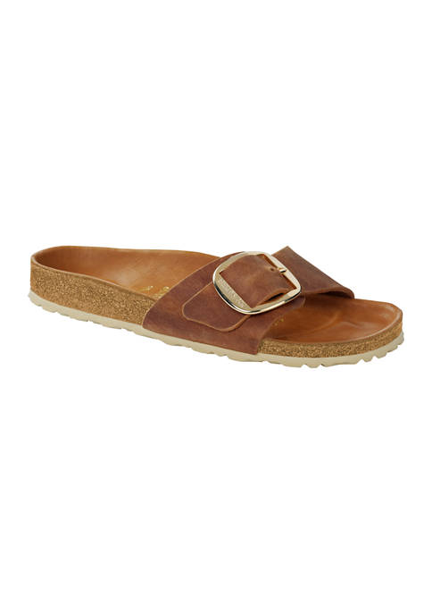 Madrid Big Buckle Footbed Sandals
