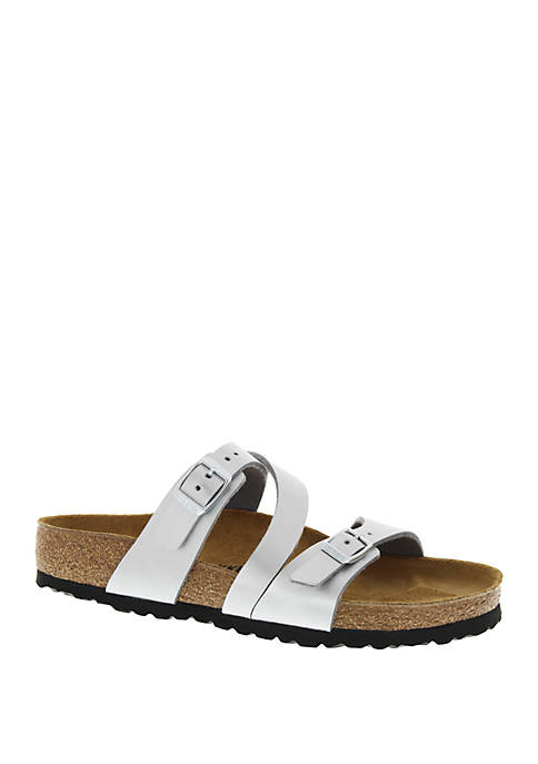 Salina Silver Slide Sandals