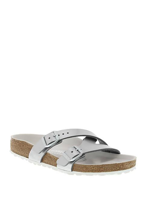 Yao Hex Metallic Silver Sandals