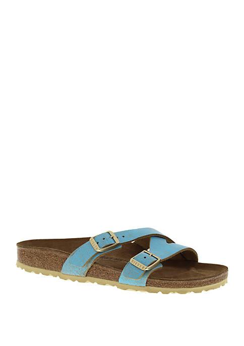 Birkenstock Yao Metallic Blue Sandals