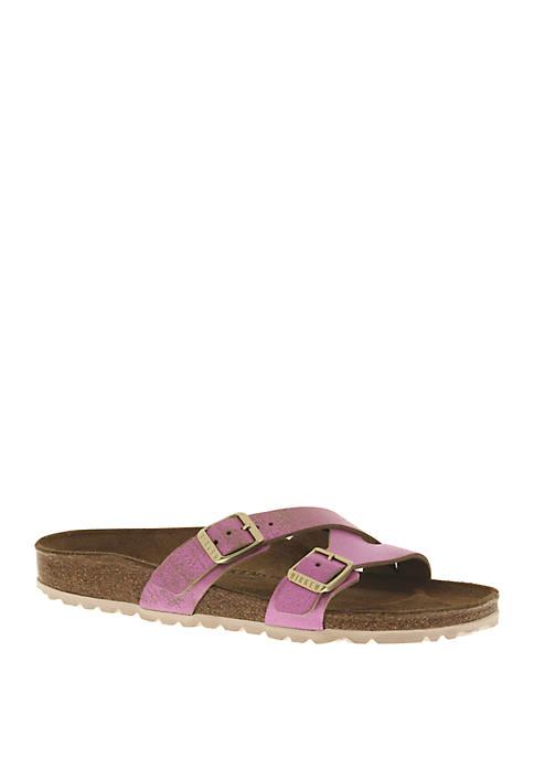 Yao Metallic Pink Sandals