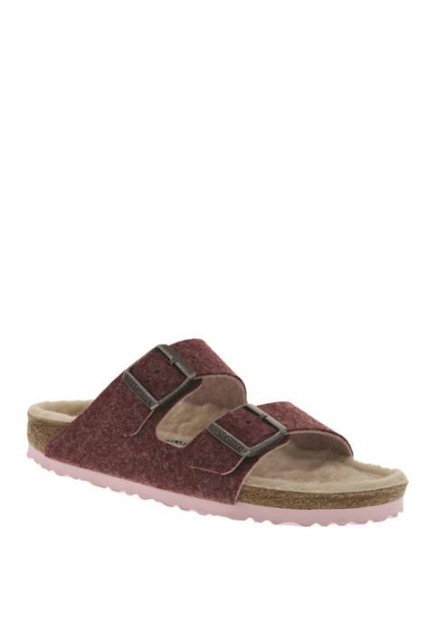 Birkenstock Arizona Happy Lamb Doubleface Port Sandals