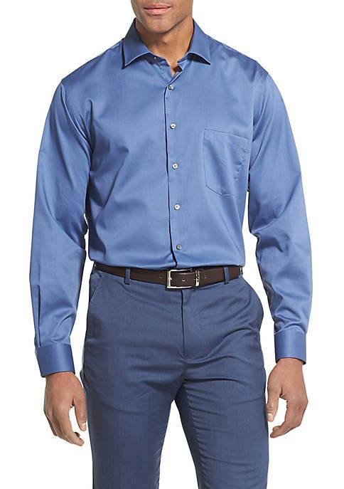 Tek Fit Stretch Solid Stretch Spread Collar Shirt
