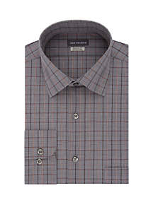Regular Fit Grey Plaid Button Down Shirt
