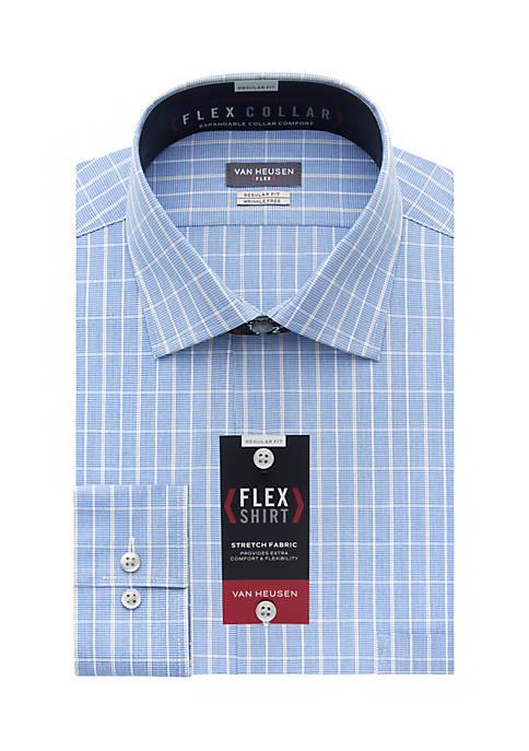 Van heusen van heusen flex collar regular fit dress shirt for Van heusen shirts flex collar