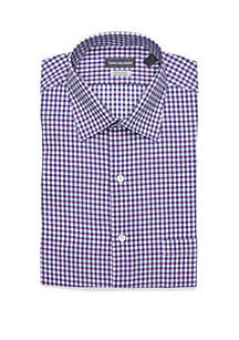 Regular Fit Violet Blue Gingham Dress Shirt
