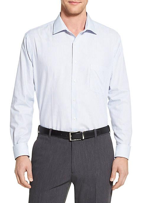 Regular Fit Flex Blue Stripe Dress Shirt