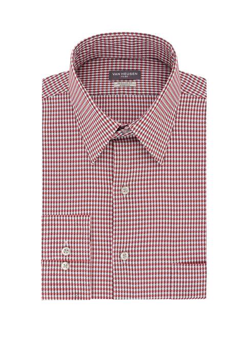 Regular Fit Flex Mini Check Dress Shirt