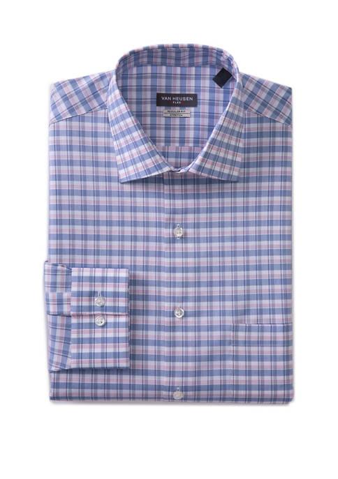 Mens Flex Button Down Plaid Shirt