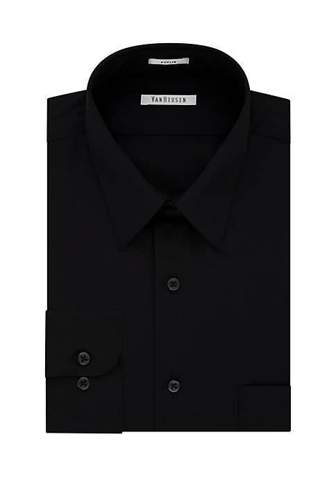 Regular Poplin Solid Shirt