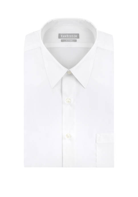 Fitted Poplin Solid Button Down Shirt