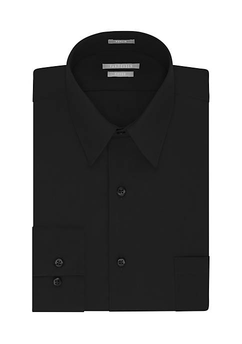 Van Heusen Fitted Poplin Solid Shirt
