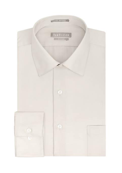 Big & Tall Wrinkle Free Solid Sateen Dress Shirt