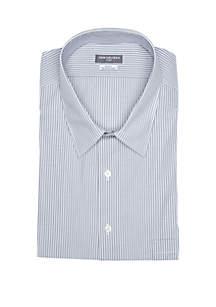 Big & Tall Long Sleeve Flex Color Big Stripe Shirt