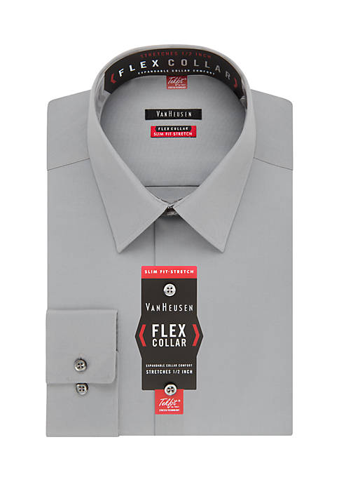 Slim Fit Stretch Flex Collar Dress Shirt