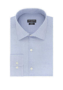 Van Heusen Slim Fit Blue Arrow Tip Print Button Down Shirt
