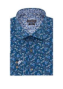Van Heusen Slim Fit Flex Stretch Print Dress Shirt