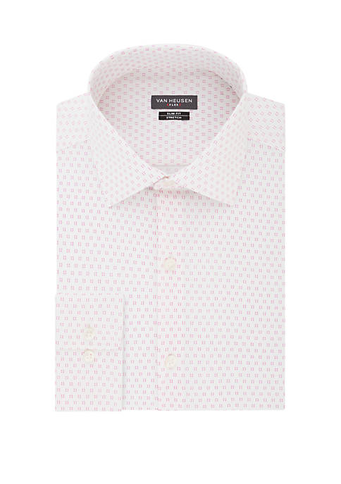 Slim Fit Flex Stretch Print Dress Shirt
