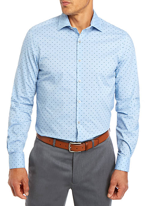 Regular Flex Square Print Dress Shirt