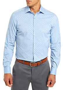 Van Heusen Regular Flex Square Print Dress Shirt