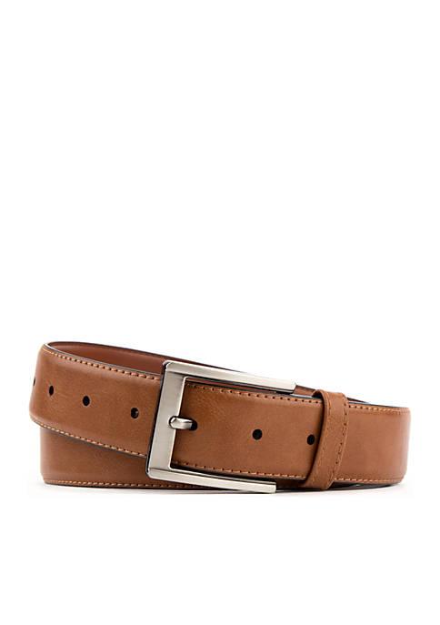 Sewn Edge With Brushed Buckle Modern Flex Dress Belt