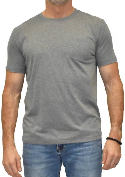 Heathered Performance Crew Neck Knit T-Shirt