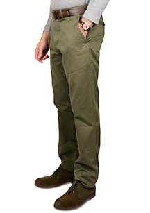 Signature Military Twill Trim Fit Pants