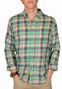 Yarn Dyed Southern Plaid Woven Shirt