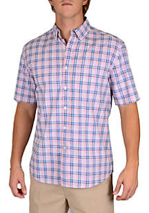 Short Sleeve Summer Oxford Button Down Shirt
