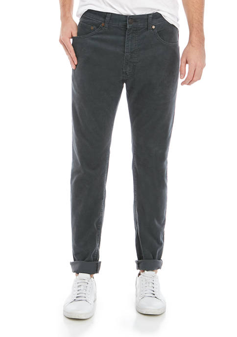 Mens Gray Fashion Slim Pants