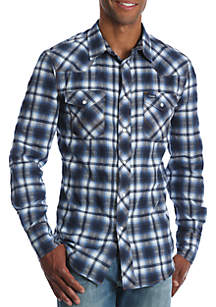 Authentic Western Long Sleeve Plaid Shirt