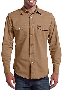 Authentic Western Long Sleeve Twill Shirt