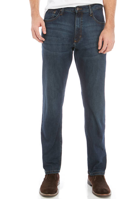 Mens Athletic Fit Jagged Jeans