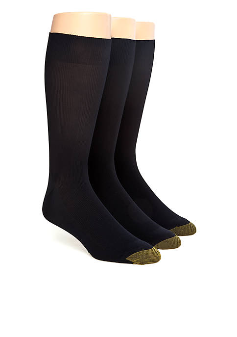 Gold Toe® 3-Pack Metropolitan Dress Socks