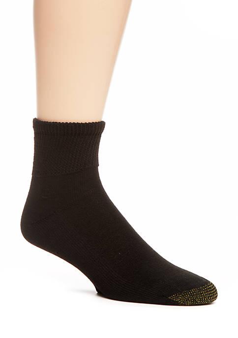 Gold Toe® 2-Pack Non-Binding Super Soft Quarter Socks
