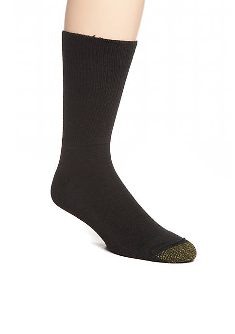 Gold Toe® 2-Pack Non-Binding Super Soft Crew Socks