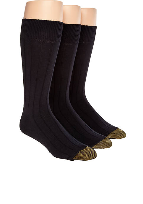 Gold Toe® 3-Pack Hampton Luxurious Socks